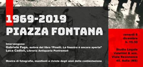 Incontro dibattito su Piazza Fontana 6/12/2019